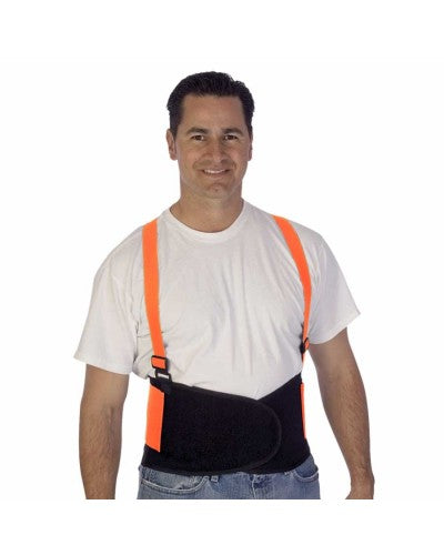 Hi-Vis Orange Back Support Belt (Product # 1908HO)