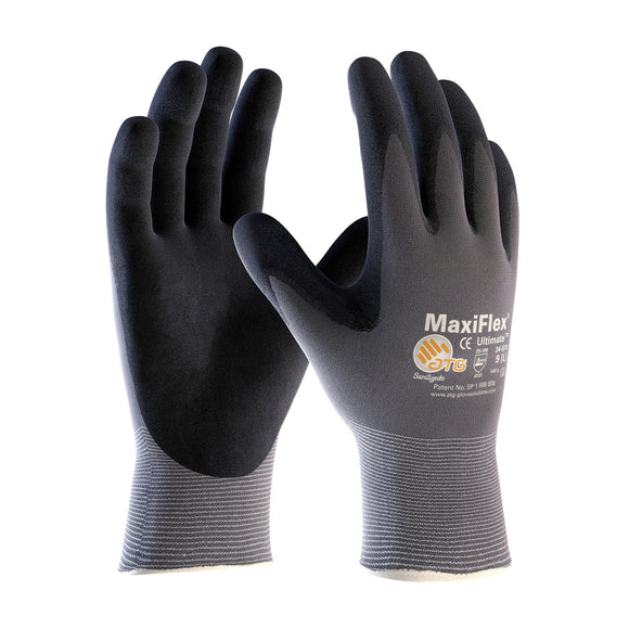 MAXIFLEX® ULTIMATE™ Seamless Knit Nylon Glove w/ Nitrile Coated Micro-Foam Grip - Sold per Dozen - (Product # 34-874)