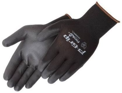 P-Grip 13-Gauge Polyester, Polyurethane Coated Gloves - Sold per Dozen - (Product # SP4638BK)