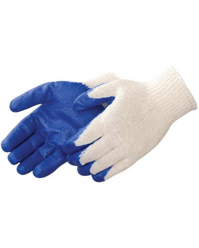 Blue Latex Coated White String Knit Glove (product # 4719)