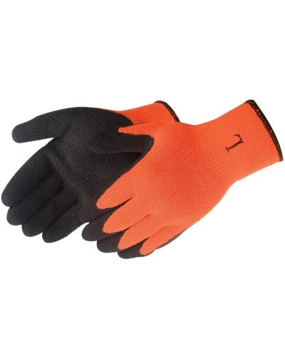 Black Textured Latex Coated Hi-Viz Orange (product #4729HO)
