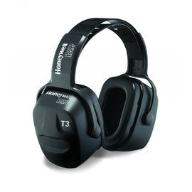 Thunder® T3 Black Over-The-Head Dielectric Air Flow Control™ Earmuffs With Snap-In Ear Cushions (Product # HON1010970)
