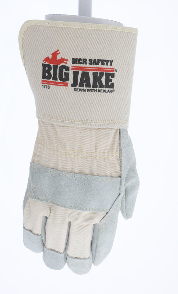Big Jake - Premium Side Leather, 4.5 in. Safety Cuff & Sewn with Kevlar - Sold per Dozen (Product # 1710)