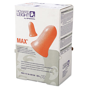 Leight Source 500 Contoured Bell Polyurethane Foam Uncorded Earplugs NRR: 33 dB - 500 per Box (Product # Max-1-D)