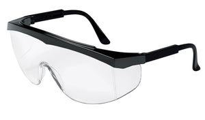 Safety Stratos Series (SS1), Black Frame, Clear Lens (Product # SS110)
