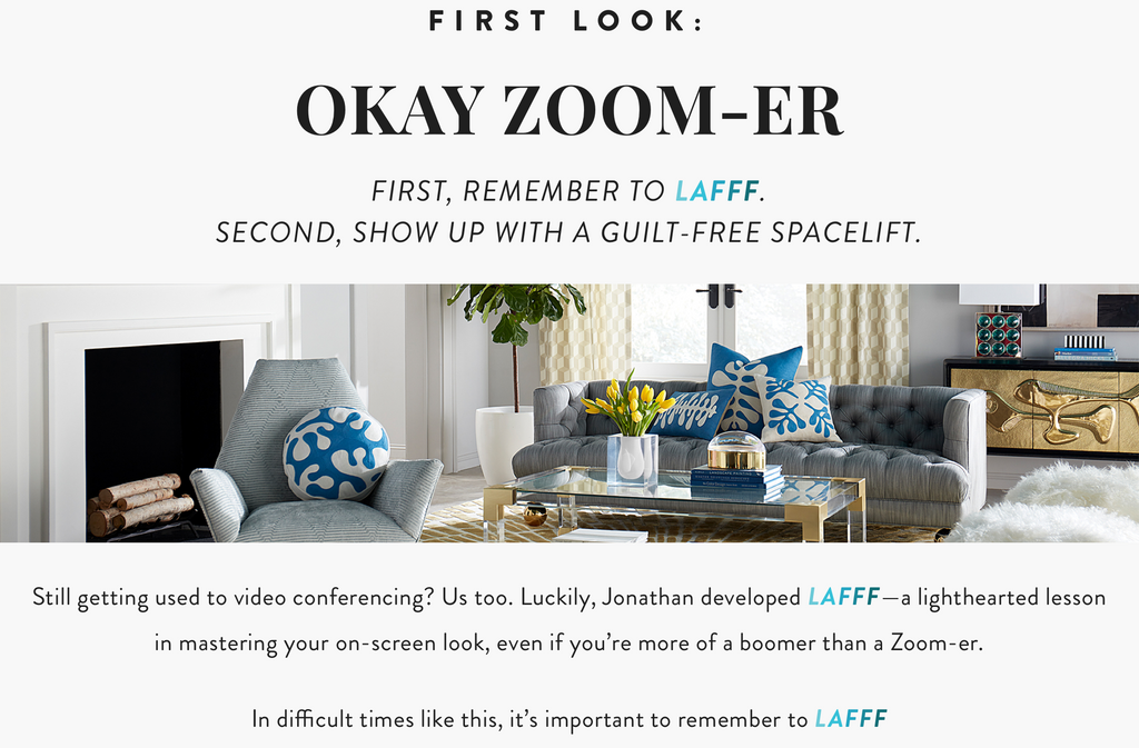 New Jonathan Adler Zoom Background