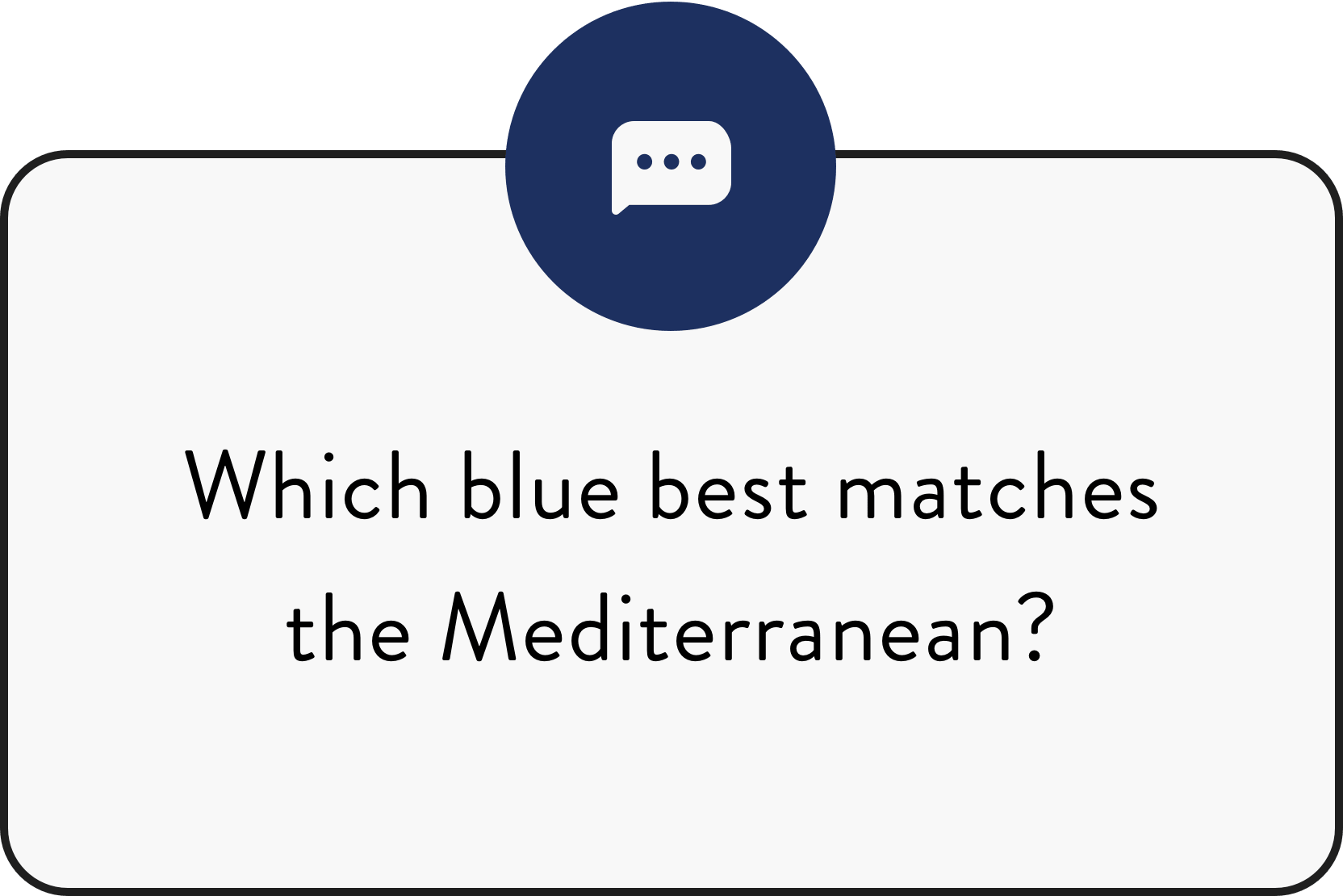 Which Blue Best Matches The Mediterranean