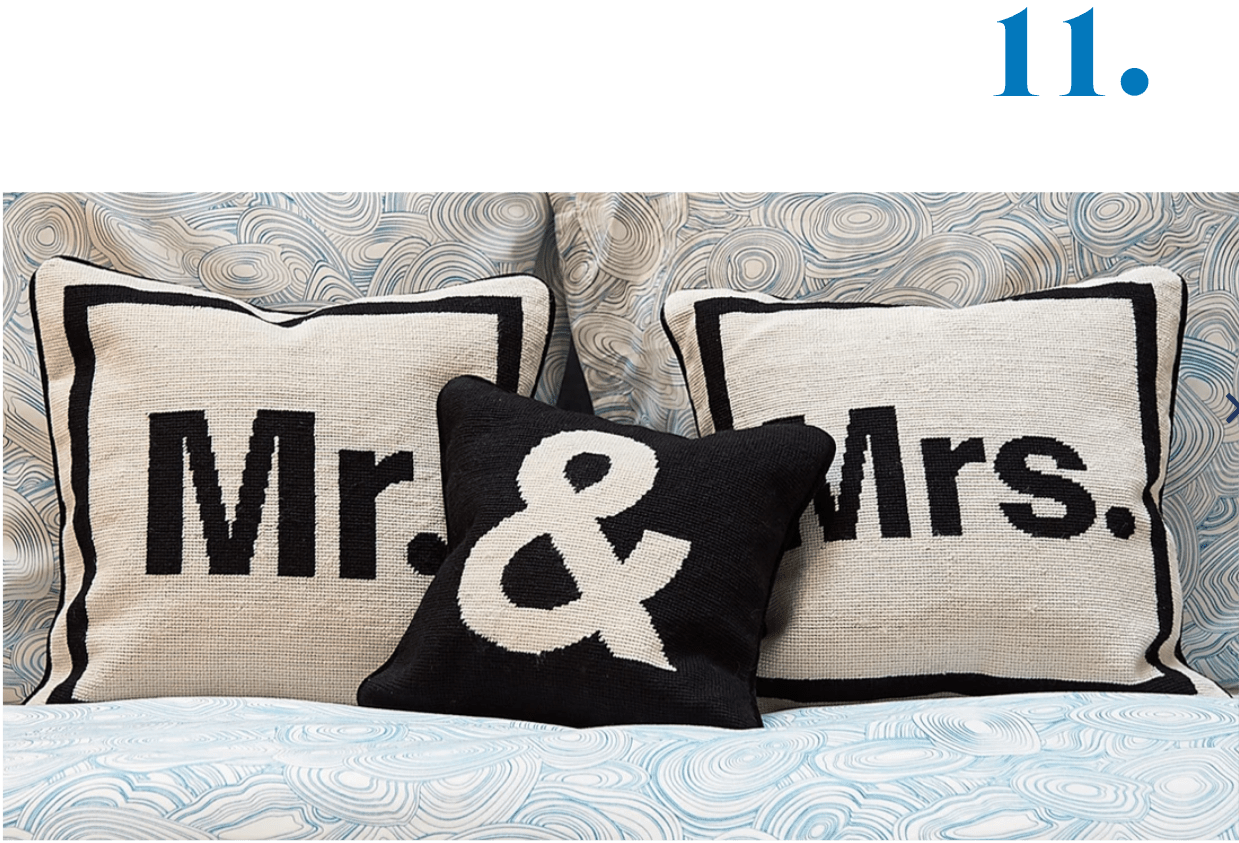 Jonathan Adler Mr. & Mrs. Pillows