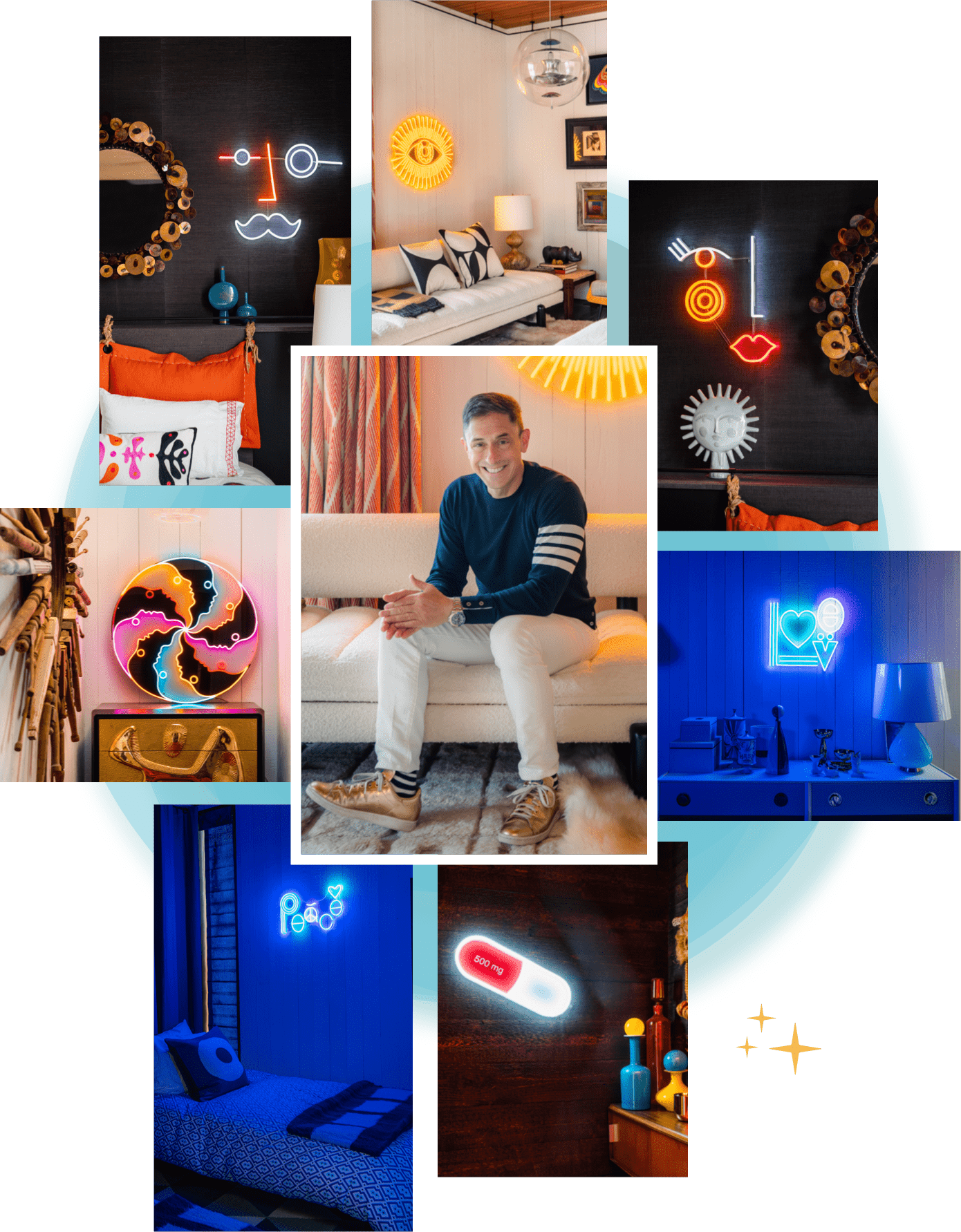 LED-powered neon signs by Jonathan Adler x Yellowpop