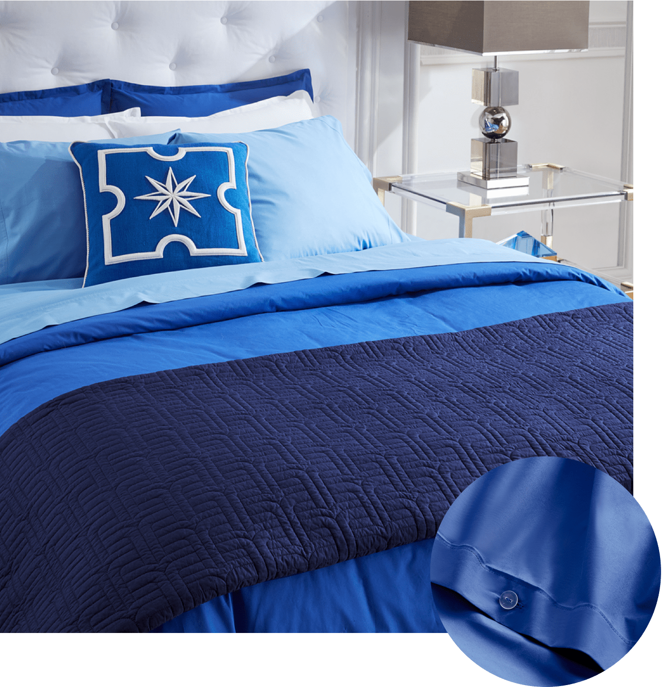 Paradise Percale sheets by Jonathan Adler
