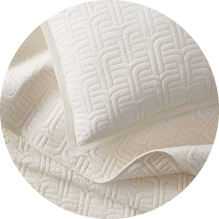 The Everywhere Cotton Quilt by Jonathan Adler Ivory