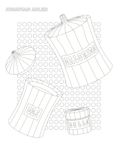Jonathan Adler Vice Cansister Coloring Page