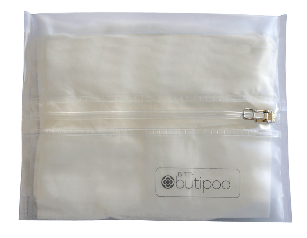 bitty buti-pod zip | Clear | 2-pack