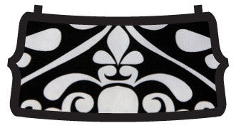 Black White Damask Flat Belle Bottom