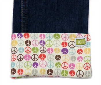 Peace Signs Multi Flat Belle Bottom