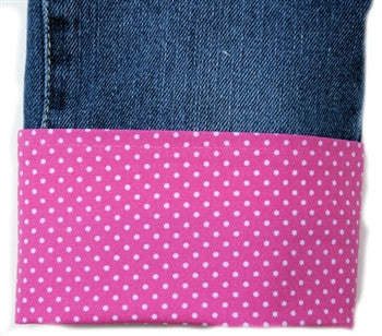Mini Dots Pink White Flat Belle Bottom