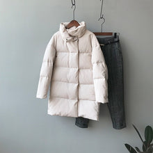 Load image into Gallery viewer, Tangada Women Amy Green Oversize Long Parkas Thick 2020 Winter Long Sleeve Buttons Pockets Female Warm  Coat ASF73