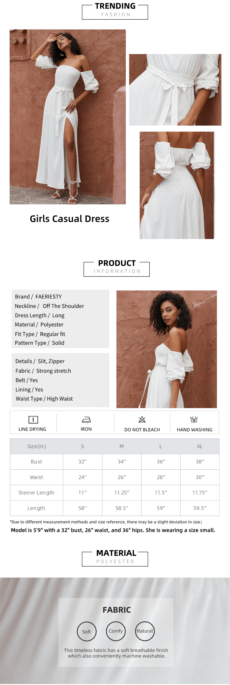 White Color Off the Shoulder Solid Casual Maxi Dress
