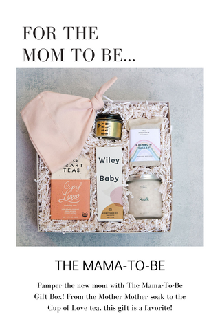 Pamper the new mom with The Mama-To-Be Gift Box! From the Mother Mother soak to the Cup of Love tea, this gift is a favorite!