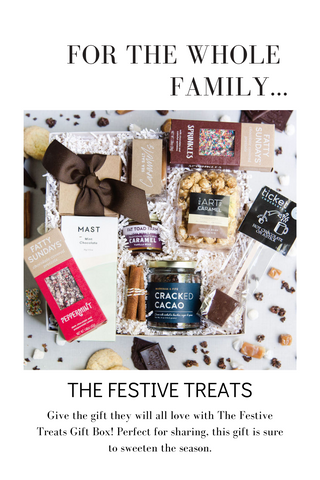 Give the gift they will all love with The Festive Treats Gift Box! Perfect for sharing, this gift is sure to sweeten the season.