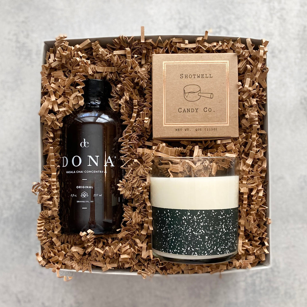 Send some cozy vibes this holiday season with The Warm & Cozy Gift Box! Packed with everything needed for a cozy night in, this gift is sure to warm your recipient's heart.