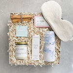 Give the gift of calm and relaxation! The Spa Gift Box includes everything needed to create the perfect, relaxing spa experience at home. From our signature candle to the uplifting bath salts, this gift will surround your recipient in relaxation.