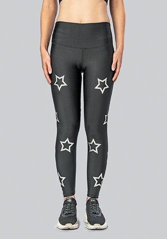 OUTLINE STARS SILVER LEGGING