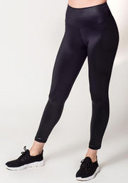 Lustrous Black Leggings
