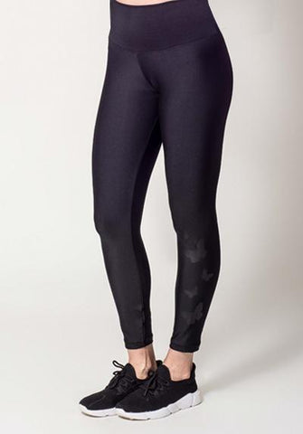 Butterfly Pattern Black Legging
