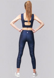 ARTISAN LASER CUT LEGGING - BLUE