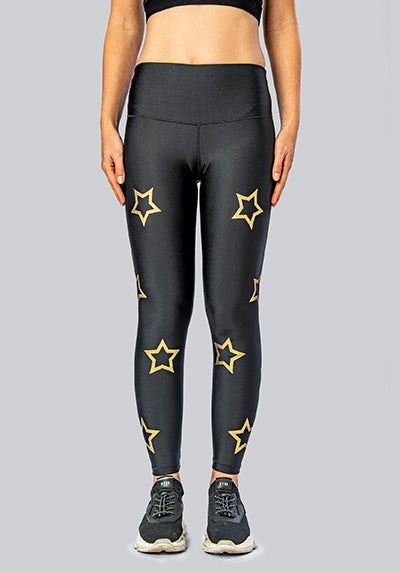 OUTLINE STARS GOLD LEGGING