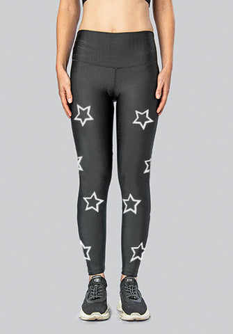 OUTLINE STARS WHITE LEGGING