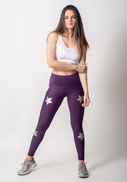 Silver Stars Purple Legging