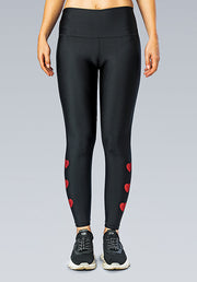 INFINITY HEARTS RED LEGGING