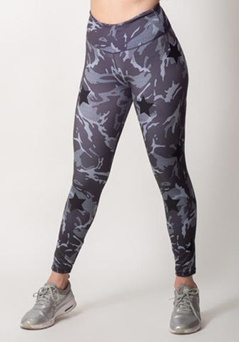 Camouflage Active Leggings with Stars