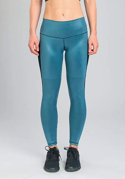 INSIGNIA BLEU SHINE COLOR-BLOCK LEGGING
