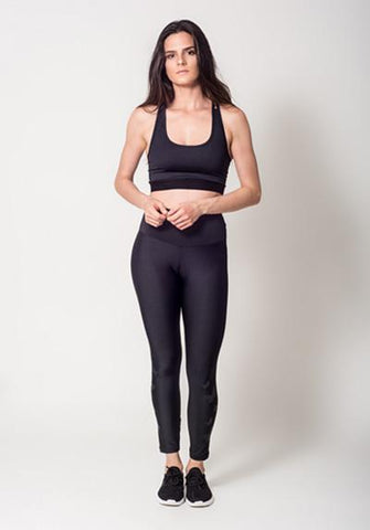 Black Legging with Butterflies View 1