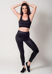 Faux Leather Lux Shine Black Leggings