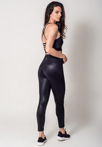 Stylish Workout Faux Leather legging