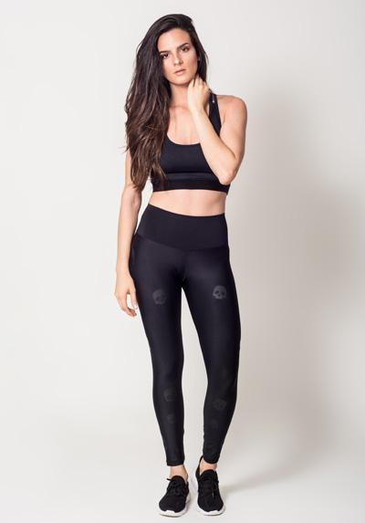Skulls Black Legging Casual Activewear