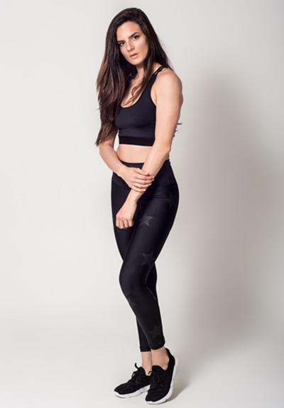 Seamless Black Legging Fitness Unique Model Stars activefitwear.com