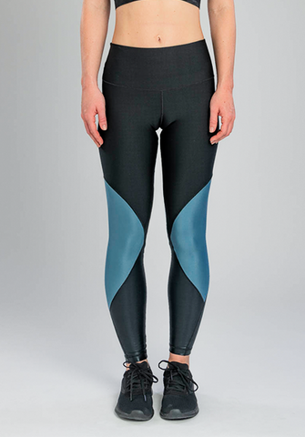 INSIGNIA BLUE SHINE COLOR-BLOCK LEGGING