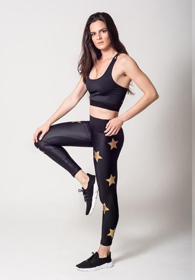 Seamless Gold Stars Legging