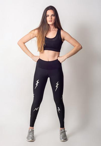 LIGHTNING BOLTS SILVER LEGGING