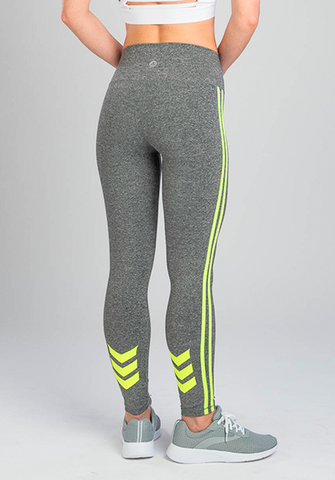 INFLUENCE NEON CHEVRON YELLOW LEGGING