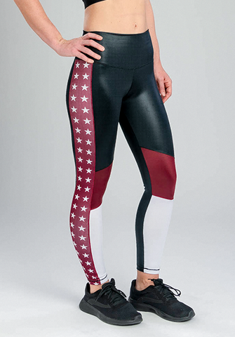 INFLUENCE STARS COLOR-BLOCK LEGGING