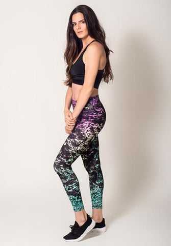 Colorful Printted Spandex Pants View2