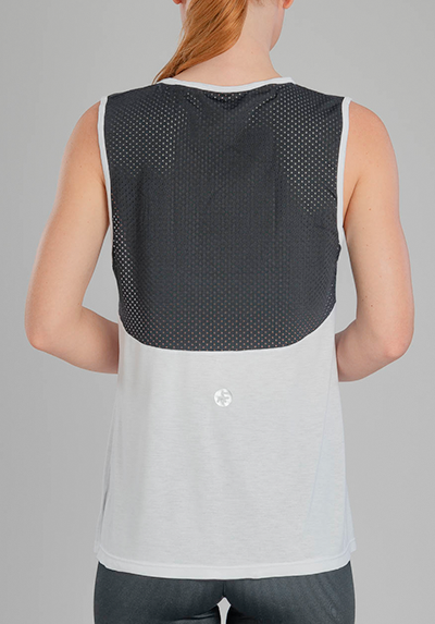 BLACK AND WHITE MESH TANK