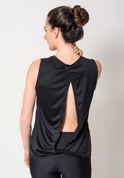 Black Open Back Tank Athleisure