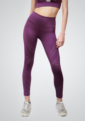 ARTISAN LASER CUT LEGGING - PURPLE